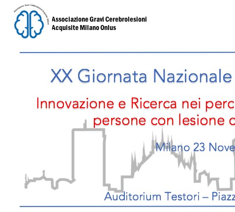 """Ultimi giorni per iscriversi al Convegno Nazionale """"Innovazione e ricerca nei percorsi di inclusione sociale di persone con cerebrolesione acquisita"""""""