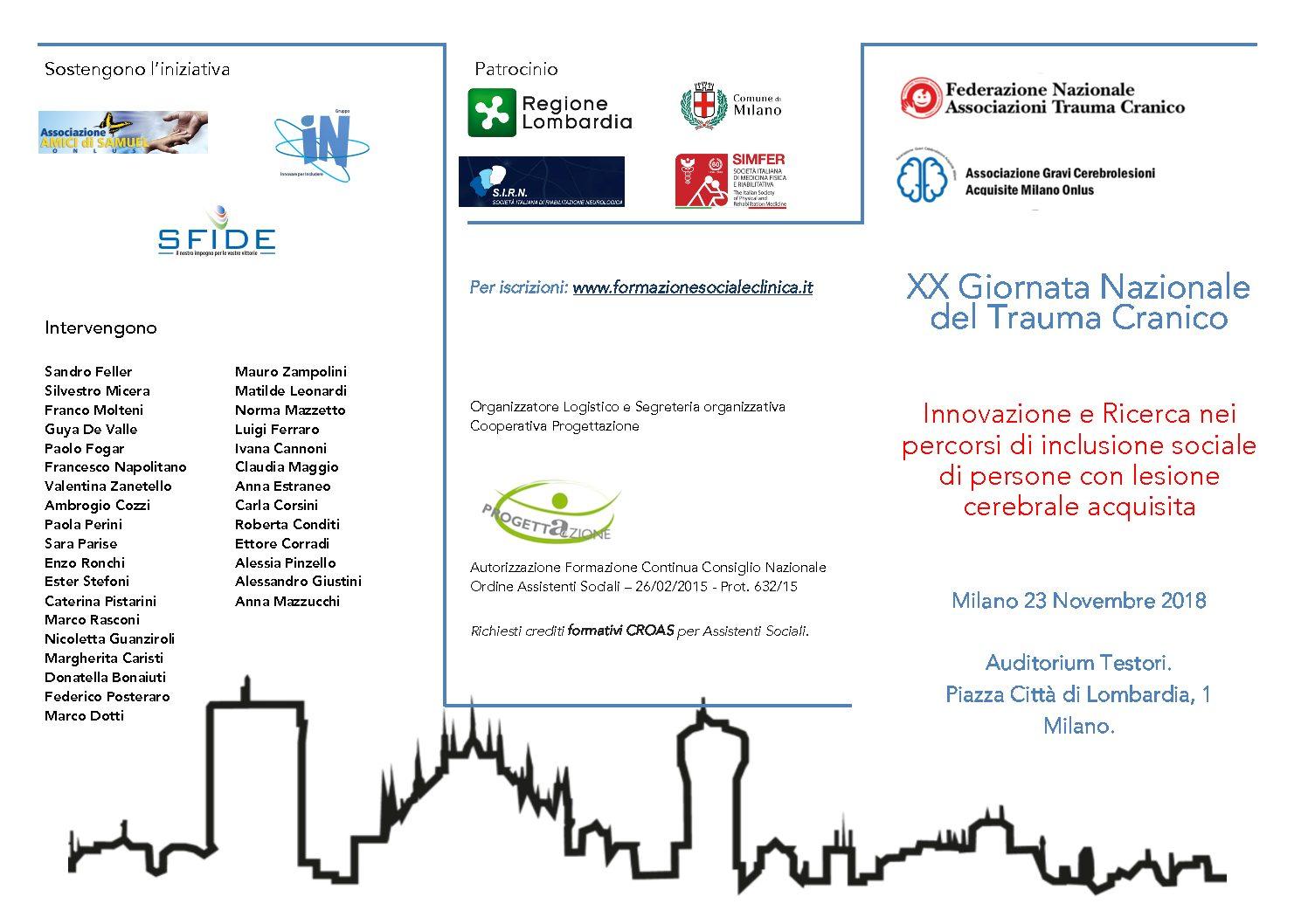 Ancora qualche giorno per iscriversi al Convegno: Innovazione e ricerca nei percorsi di inclusione sociale di persone con cerebrolesione acquisita