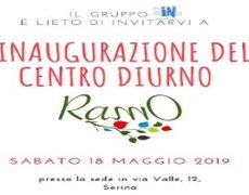Facciamo festa! Inauguriamo il Centro RamO, a Serina, il 18 Maggio 2019 alle 11,00. Siete invitati!