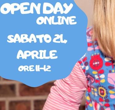Open day online SABATO 21 APRILE ore 11- 12 – Circolo dei Bambini