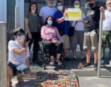 Una iniziativa da segnalare: la pedana fatta con i mattoncini Lego