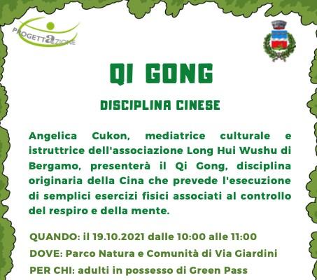 Controllo del respiro e della mente col Q.I. GONG – Presso il Parco Natura di Pedrengo: martedì 19 ottobre 2021